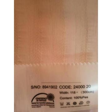 New Pink Color Jacquard Sheer Curtain for Home