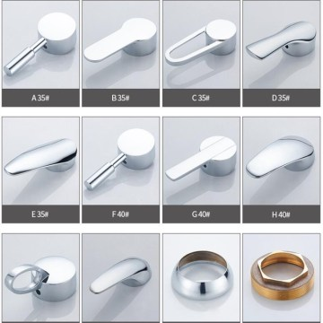 Faucet zinc alloy handle lever 35mm or 40mm cartridge bathroom faucet accessories