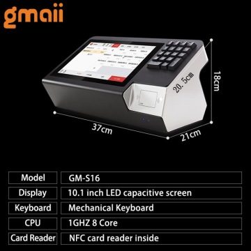 Touch screen Android POS system support NFC