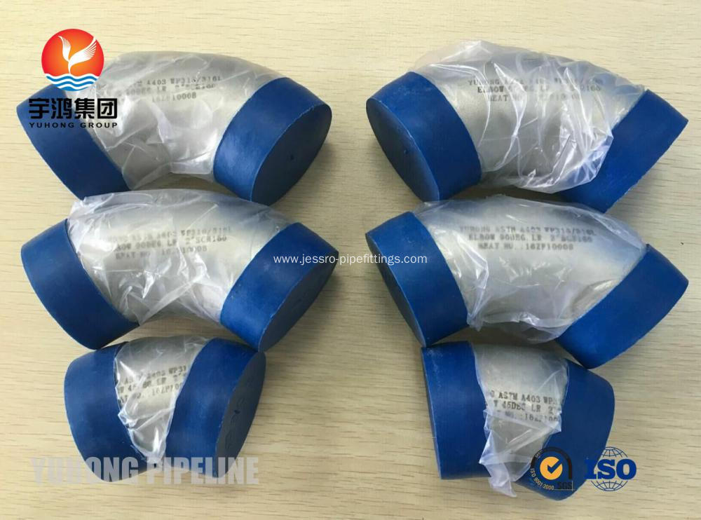 JIS B 2312 SUS316L BUTT WELD FITTING , BV MODE II OR ABS CERT FOR SHIP BUILDING APPLICATION