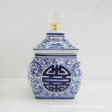 Chinese blue and white porcelain decoration box