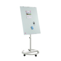 Magnetic movable tempered glass flipchart mobile white board
