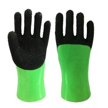 Foam finish pvc coated gloves