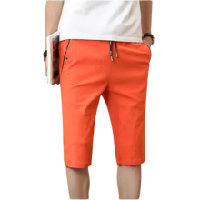 Mens Summer Fashion Classic Slim Cotton Short Pants