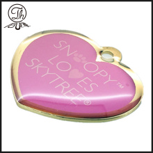 Gold Jewelry heart printed logo pendant charm