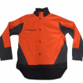 Orange mens utomhus vindtät softshell jacka