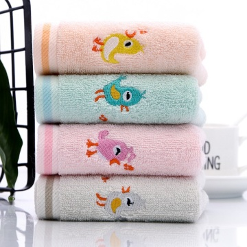 Cartoon embroidery Baby wash face towel handkerchief