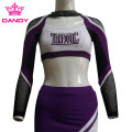 Custom Mystique Long Sleeve Cheerleader Costume