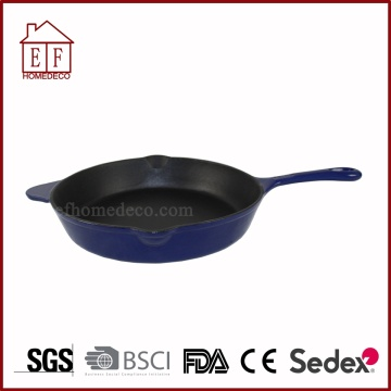 Enamel Coated Cast Iron Skillet