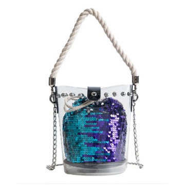 Waterproof Transparent PVC Tote Clear Crossbody Shoulder Bag