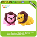 SOODODO Cute Pink Lion Shaped School Eraser