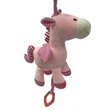 Plush Pink Horse With Musical