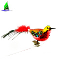 decorative cute glass bird art glass sculpture ornament