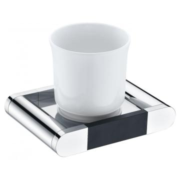 Generous Brass Glass Holder With Cup Chrome