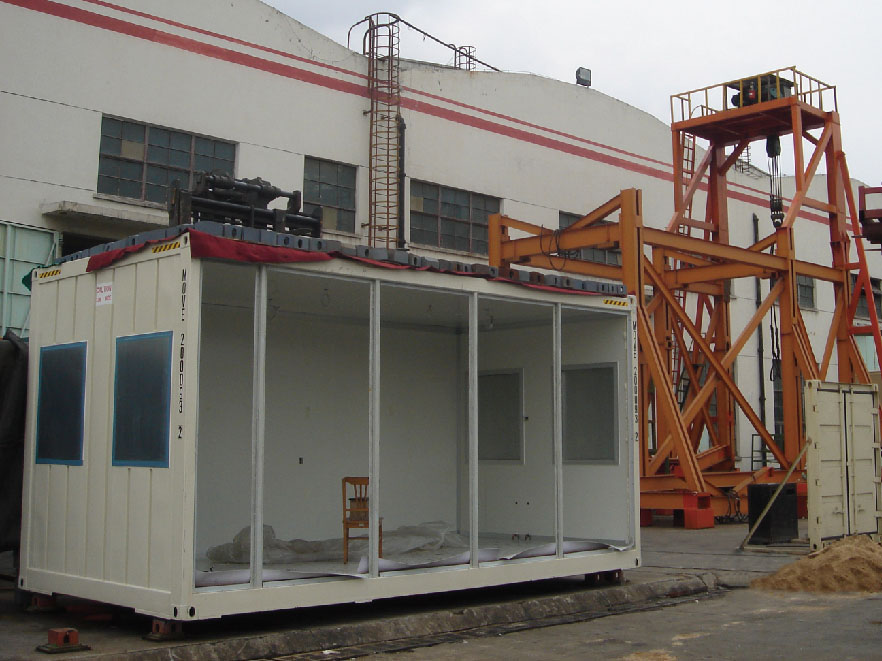 roof loading test for Modular Family House Container Type