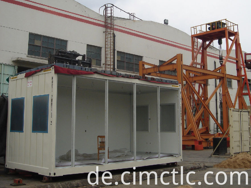 roof loading test for Modular Laundry Container Type