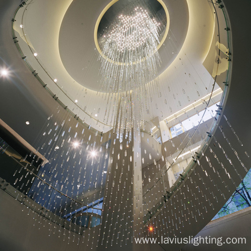 Customized luxury project mall stage crystal chandelier lamp