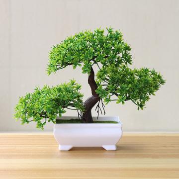Artificial Plant Artificial Flower Home Decor Bonsai Tree Pot Plant Fake Flower Potted Ornament For Home Room Garden Decoration