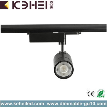 Black 25W Commercial LED Track Lights 6500K