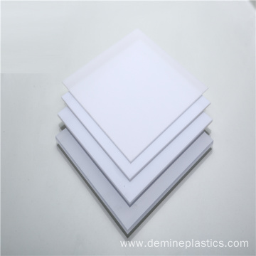 Creamy white light diffuser sheet polycarbonate light panel