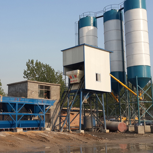 Stationary type electrical batching plant production line