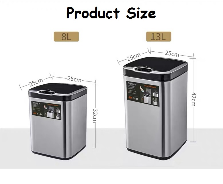 8L/ 13L dustbin litter can