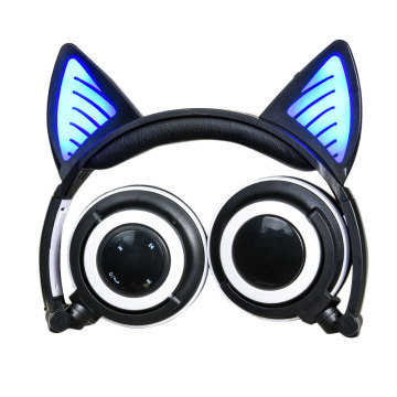 Light Up Cat Ear Wireless Headphones Foldable