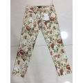 Lady's Casual Print Pants