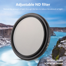 Classic Texture Camera Accessaries Supplies 46-82mm Fader ND Filter ND 2-400 Variable Neutral Density Filter Black