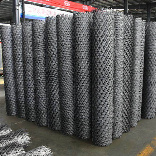 Aluminum Expanded Curtain Wall Metal Mesh Flattened