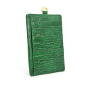 Phone Purse Pouch Embossed Crocodile Leather Card Holder