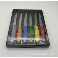 6pcs pp handle steak knife set