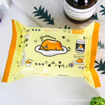 No Chemical Disposable Wet Organic Baby Wipes