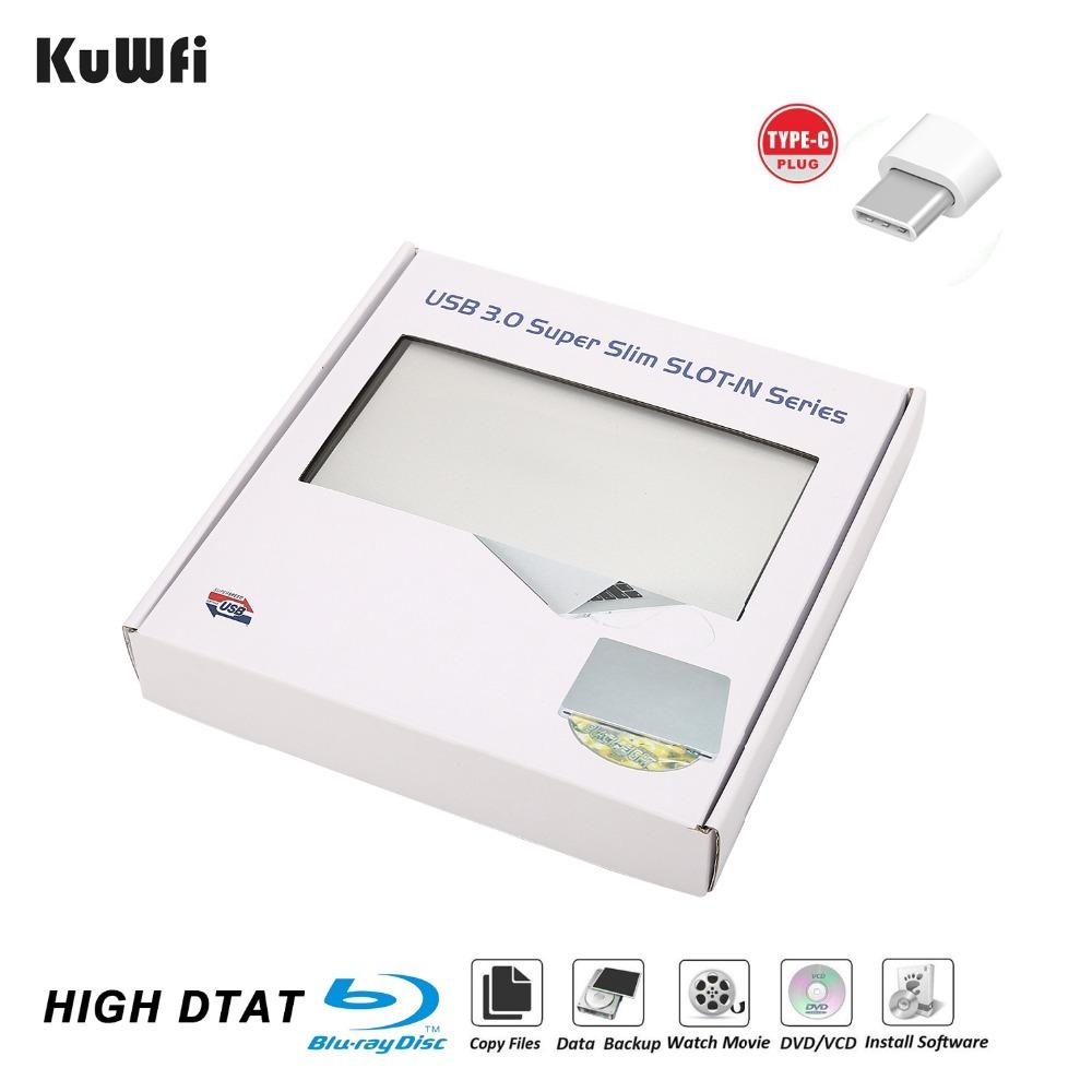 External Automatic Slot-loading Blu-Ray DVD Drive Burner Player Type-C DVD-RW VCD CD RW Reader For Apple Pro Air iMAC PC