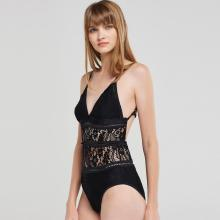 ladies transparent lace sexy hot customed lingerie bodysuit