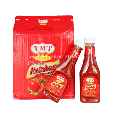 tomato ketchup in plastic bottle