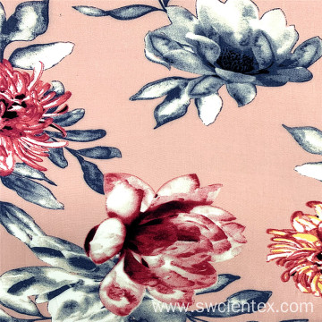 High Quality Lotus Pattern Printed Rayon Clothes Fabrics