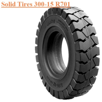 Industrial Forklift Vehicles Solid Tire 300-15 R701