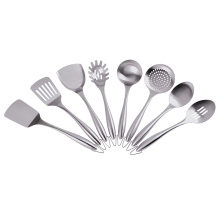 8 piece full stainless steel cooking utensil set