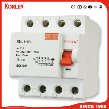 F362 F364 Residual Current Circuit Breaker More Stable Performance RCCB 1p+N 3p+N 30 100 300 500mA with Ce CB Semko
