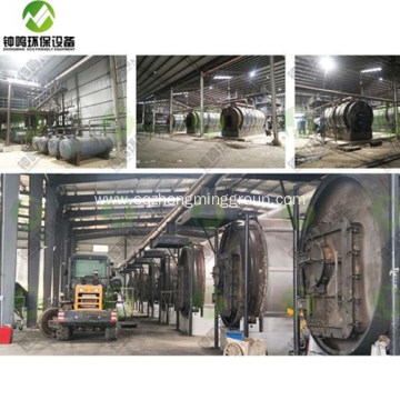 Used Tyres Oil Recycling Pyrolysis Process Plant