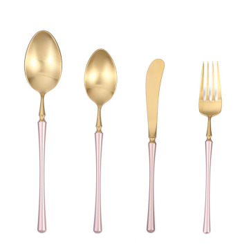 Luxury cutlery wedding favor gifts modern flatware set