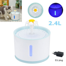 2.4L Automatic Pet Cat Water Fountain Dog Cat Drinking Fountain Drinker Feeder Bowl Water Dispenser with EU US UK Plug Adapter