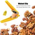 Household Portable Nut Opener Cutter Gadgets 2 in 1 Quick Chestnut Clip Walnut Pliers Metal Nutcracker Sheller Kitchen Tools