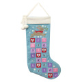 Christmas stocking shape countdown advent calendar
