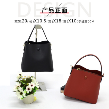 Wholesale Brown Leather Sling Bucket Tote Bag