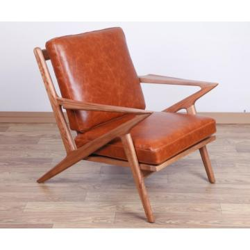 Full Vintage leather Selig lounge chair