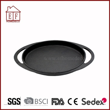 cast iron round skillet pan for bbq