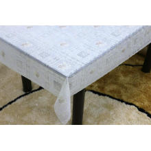 Printed pvc lace tablecloth by roll plaid