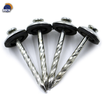 Umbrella head ring shank roof nail